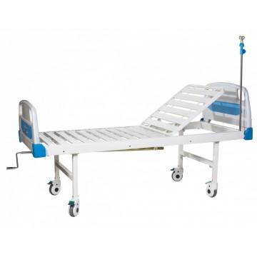 Кровать больничная FB-23 (2-секционная, механическая) на колесах