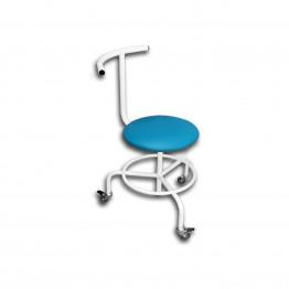 Стул винтовой передвижной со спинкой и подставкой для ног СВПС Завет Медицинская мебель ForaMed